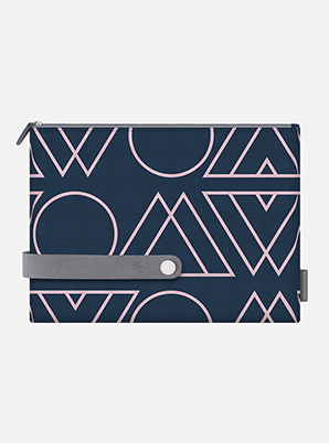 EXO TYPOGRAPHIC TRAVEL CLUTCH L with ALIFE