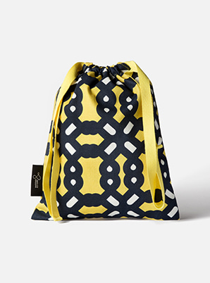 [MD &P!CK] &STORE STRING BAG BOLD YELLOW