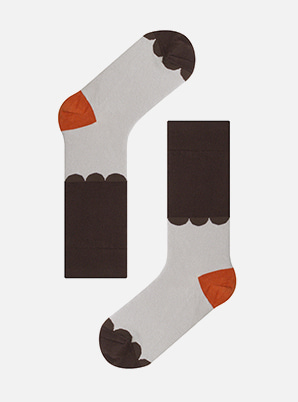 Socks appeal KBP LACE BROWN SOCKS