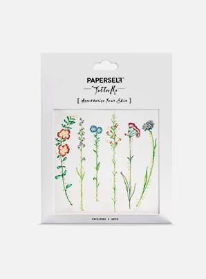 PAPERSELF Vintage Flowers TATTOO STICKER