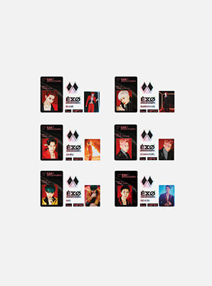 EXO ID CARD + DECO STICKER SET (X-EXO ver.) - OBSESSION
